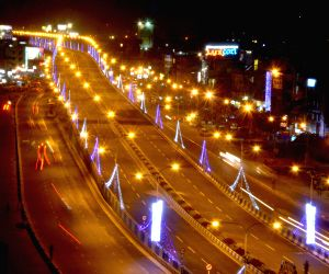 Newly constructed flyover on the VIP Road