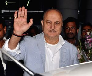 Anupam Kher at Kolkata airport