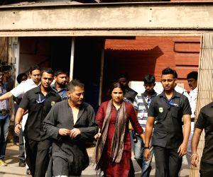 Vidya Balan shoots for her upcoming film 'Te3n' at Writers Building