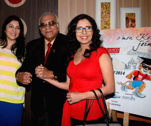 """Chaiti Ghoshal, Locket Chatterjee during a press conference regarding """"Airtel Run for Education"""