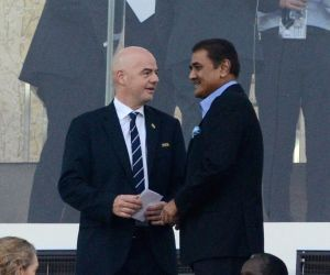 Kolkata: All India Football Federation (AIFF) president and Local Organising Committee chairman Praful Patel and Federation of International Football Association (FIFA) President Gianni ...
