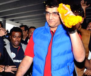 Sourav Ganguly arrives at Kolkata Airport