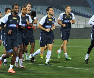 Atletico de Kolkata during a practice session