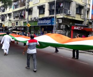 BJP takes out rally carrying 330ft long tricolor on 74th Independence Day