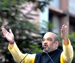 Amit Shah during a BJP rally