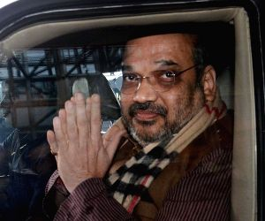 Amit Shah arrives at Kolkata Airport