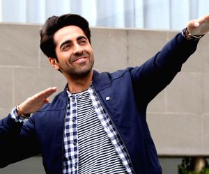 Actor Ayushmann Khurrana promoting Hawaizaada