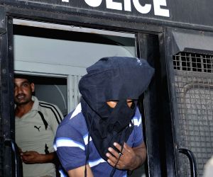 Burdwan blast accused produced at a city court