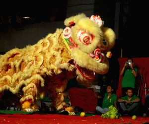 Chinese acrobatic troupe performance