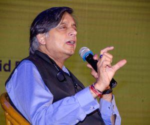 Kolkata: Congress leader and author Shashi Tharoor during Apeejay Kolkata Literary Festival in Kolkata on Jan 18, 2019. (Photo: IANS)