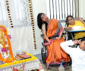 Differently-abled children celebrate Saraswati Puja