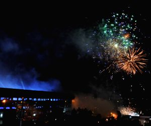 Fireworks show at IPL inauguration ceremony