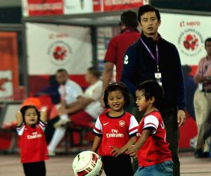 Baichung Bhutia with his children