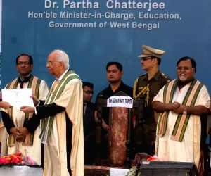 Keshari Nath Tripathi during the 8th Convocation and Valedictory 2015 of St. Xavier's collage