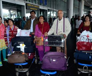 Indian tourists arrive at Kolkata Airport