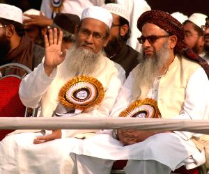 Jamiat-Ulema-e-Hind activists during a rally