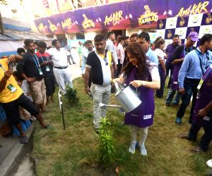 Juhi Chawla plants a sapling at Eden Garden