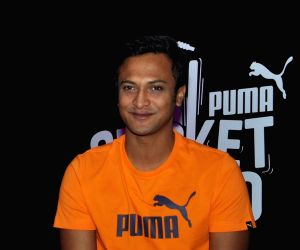 Shakib Al Hasan during a promotional programme
