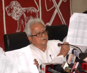 Biman Bose releases the list of candidates contesting the upcoming KMC polls