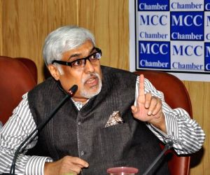 MCCI President Arun Kumar Saraf interacts with media