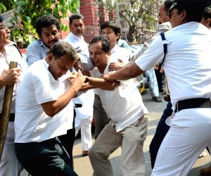 BJP workers clash with each other in Kolkata