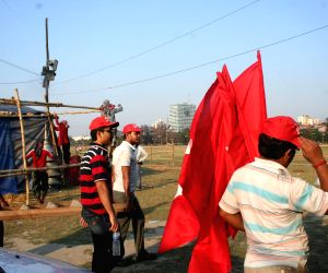 Preparations for CPI(M) rally