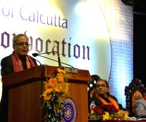 President Mukherjee at the Annual Convocation of University of Calcutta