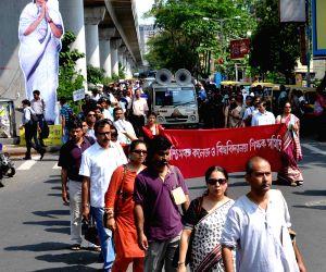 Professors' demonstrate against WB Govt.