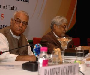 Yashwant Sinha during a programme organised to discuss national budget 2015-16