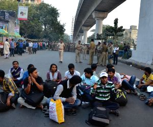 SSC qualified youths protest against WB Govt