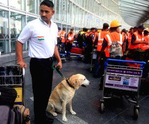 NDRF personnel at Kolkata Airport
