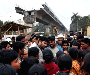 Babul Supriyo meets people living on the land marked for East-West Metro project