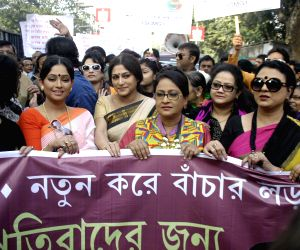 Tollygunge artists and technicians protest against West Bengal Government