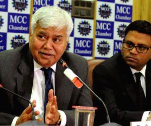 :Kolkata: TRAI Chairman RS Sharma addresses during a MCCI Chamber programme on Telecom Revolution in Kolkata, on Dec 3, 2015. (Photo: IANS).