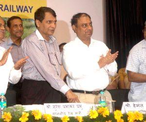Suresh Prabhakar Prabhu at the inauguration of new railway projects