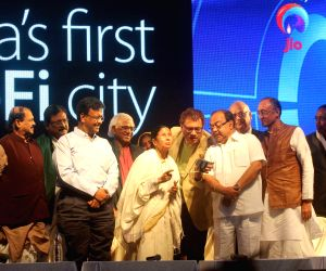 West Bengal CM during the inauguration of first Wi-Fi city
