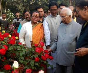 WB Governor during a flower Show