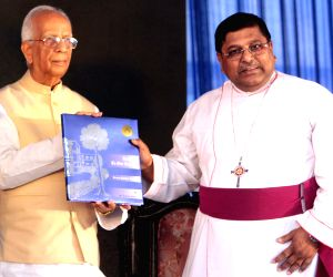 WB Governor, Bishop of Calcutta during a school programme