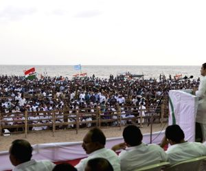 Rahul Gandhi at a Kerala Pradesh Youth Congress rally