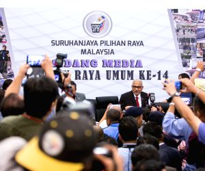 KUALA LUMPUR, April 10, 2018 - Mohd Hashim bin Abdullah, chairman of Malaysia's Election Commission, attends a press conference in Putrajaya April 10, 2018. Malaysia will hold general elections on ...
