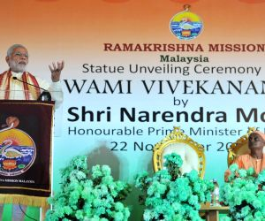 Kuala Lumpur: Modi addresses at the statue unveiling ceremony of Swami Vivekananda