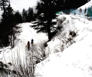 Kufri receives fresh snowfall