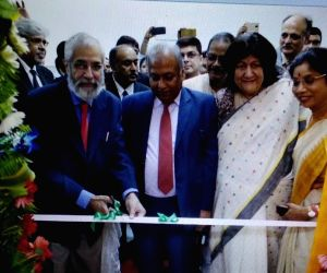 (L-R) Supreme Court Judge Justice Madan Lokur, Chief Justice of the Calcutta High Court Jyotirmay Bhattacharya, Supreme Court Judge Justice Indira Banerjee and West Bengal cabinet Minister ...