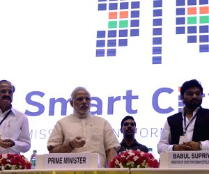 Modi launch Smart Cities Mission, Atal Mission for Rejuvenation and Urban Transformation (AMRUT) and Housing for All Mission