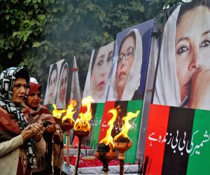 Sixth anniversary of Bhutto's assassination, at a rally in eastern Pakistan's Lahore