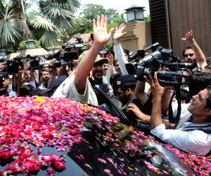 PAKISTAN LAHORE FORMER PM SON ARRIVAL
