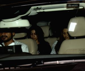 Late actress Sridevi's daughter Khushi Kapoor seen at her brother and actor Arjun Kapoor's residence in Mumbai on March 19, 2018.