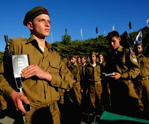 MIDEAST-LATRUN-ISRAEL DEFENSE FORCES-SWEARING-IN CEREMONY