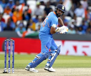 Leeds: India's Rohit Sharma in action during the 44th match of World Cup 2019 between India and Sri Lanka at Headingley Stadium in Leeds, England on July 6, 2019. (Photo: Surjeet Yadav/IANS)