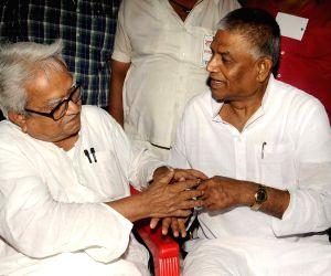 Left-Congress demonstration against WB Govt